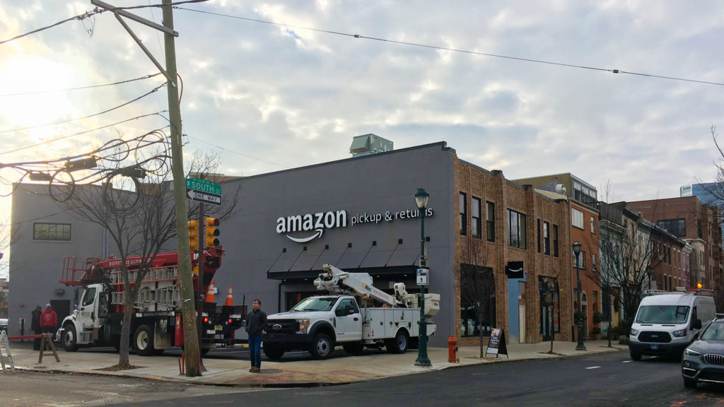 The brand new Amazon pickup center at 23rd, South Street and Grays Ferry Avenue