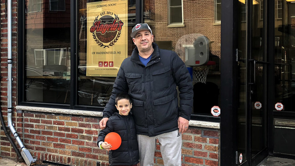 Danny DiGiampietro and his son (and restaurant's namesake) Angelo in 2019