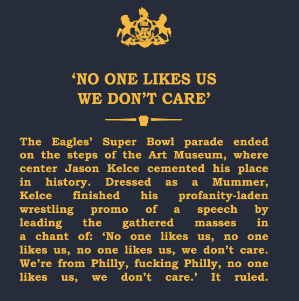 If only Kelce's speech got a historical marker