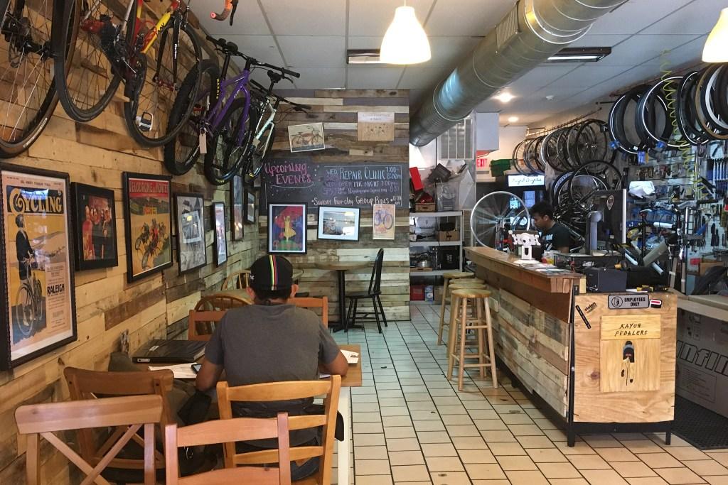 Bikes and coffee mingle at Kayuh