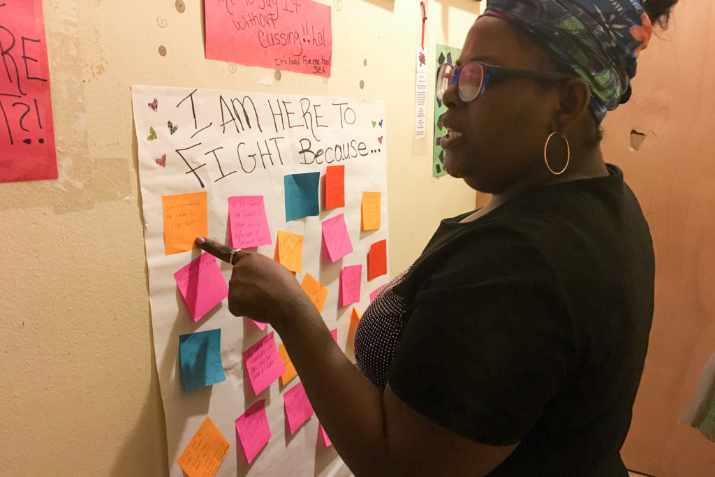 In preparation for her District 5 campaign, Sheila Armstrong asked her neighbors to write down the issues they think she should focus on
