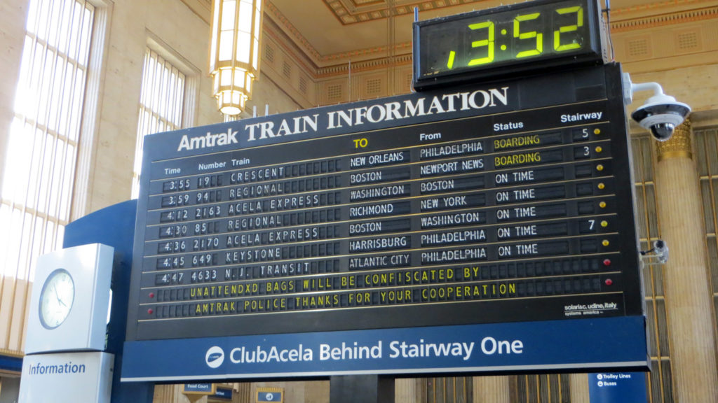 Iconic Amtrak flipboard will become part of 30th Street's