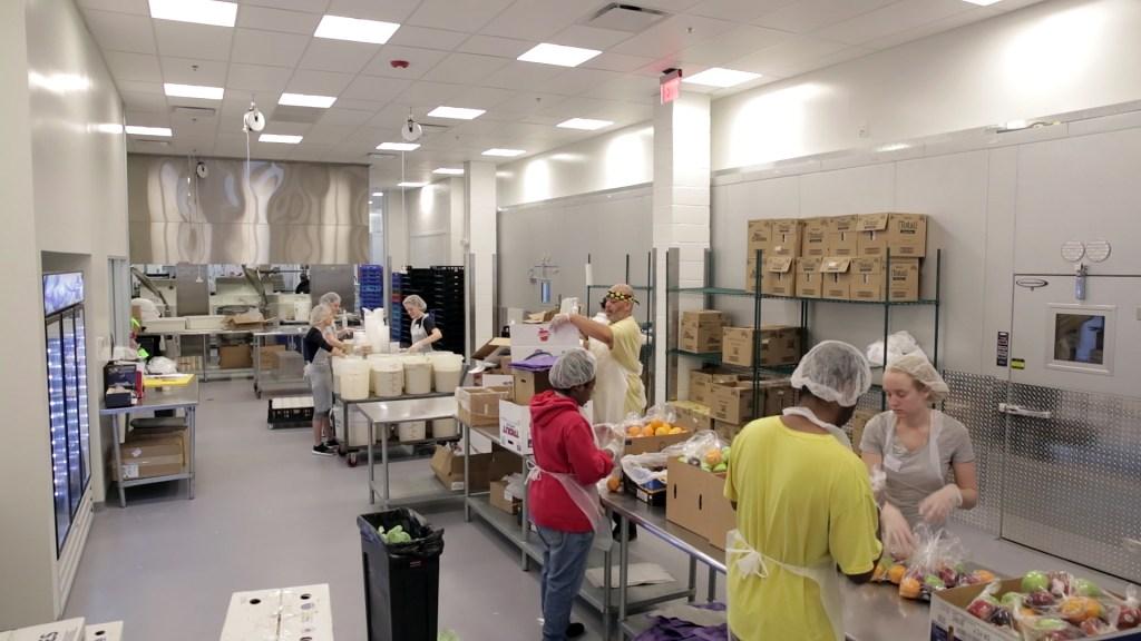 Workers in MANNA's kitchen