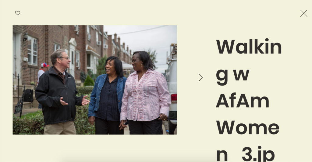 Screenshot of photo gallery on Alan Butkovitz's mayoral campaign website