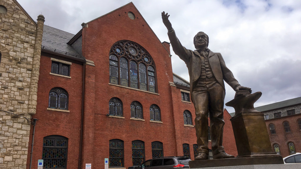 A statue of Richard Allan, founder of Mother Bethel AME Church