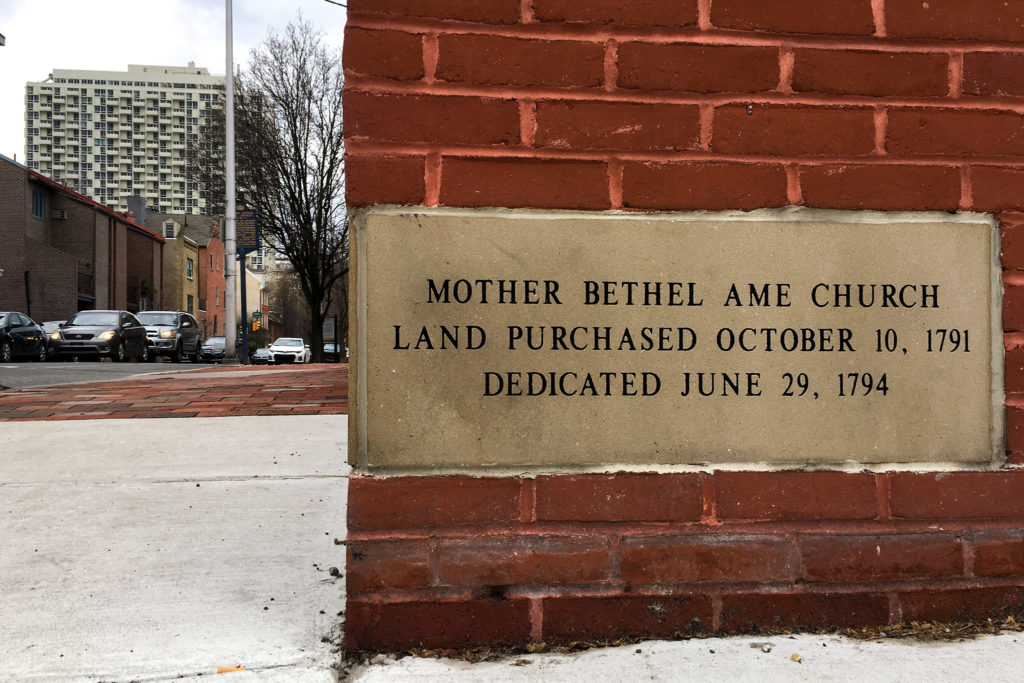 Mother Bethel AME Church on Lombard near Sixth
