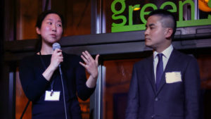 Judy Ni and Oscar Wang introduced the idea for HospitalityTogether at the Full City Challenge in February 2019