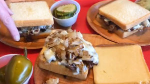 Joe's Steaks is running a special of cheesesteaks served on a Stock's Bakery pound cake bun