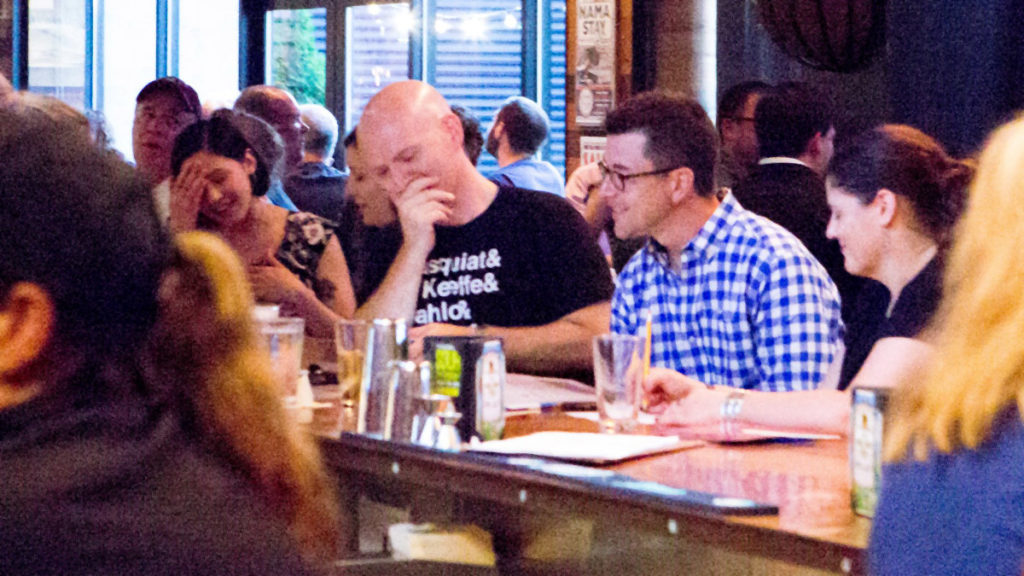 Players pore over questions at Billy Penn Philly Quizzo at City Tap House UCity