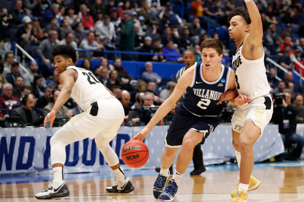 Gillespie  drives against Purdue guard Carsen Edwards during the second half of the NCAA Tournament game