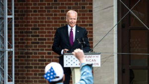 Joe Biden at the opening of the Museum of the American Revolution