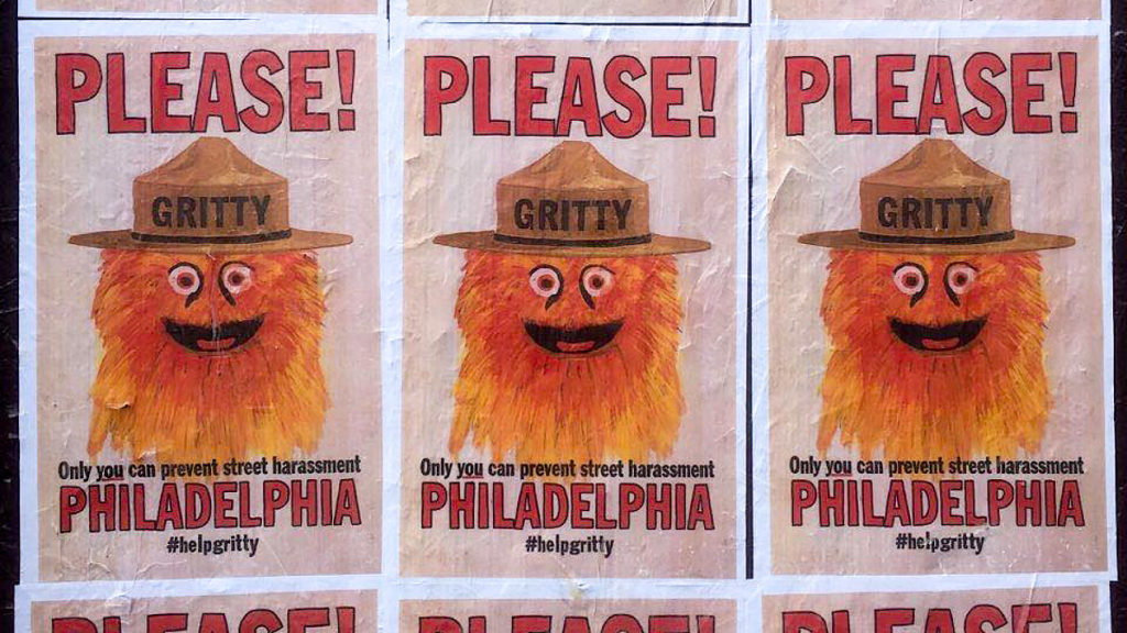 Gritty stars in this anti-harassment poster that's been pasted around Philadelphia