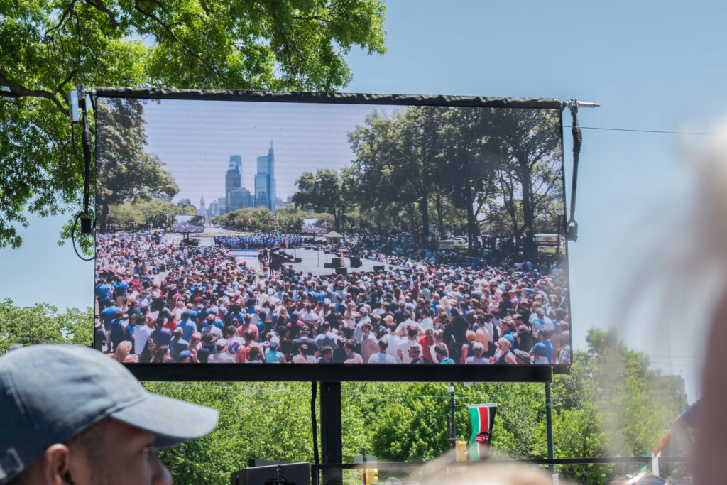 Joe Biden kicked off his presidential campaign with a rally at Eakins Oval in Philadelphia on Saturday, May 18, 2019.