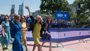 Joe Biden kicked off his presidential campaign with a rally at Eakins Oval in Philadelphia on Saturday, May 18, 2019. Among the estimated 6,000 attendees were his wife Dr. Jill Biden and other members of his family.