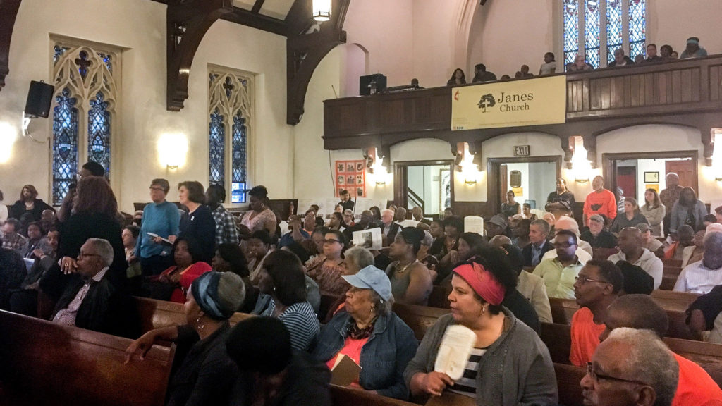 Full house at Janes Memorial United Methodist Church for a community meeting on the future of Germantown High School