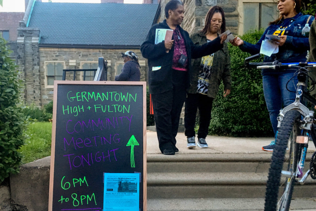 Hundreds of Germantown neighbors showed up to a meeting on the high school building's future.