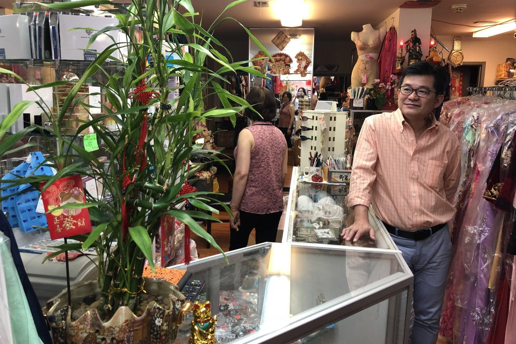 Albert Tse in his Chinatown shop