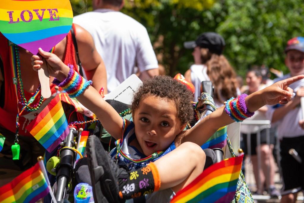 Quarn Quap, 4, celebrates Philly Pride