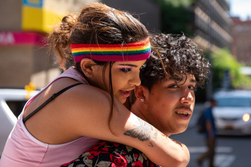 Maria Gooch and Jeremiah Rosado, high schoolers, enjoyed the feeling of acceptance at the parade