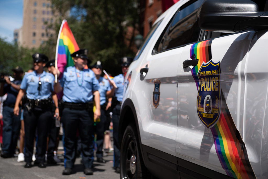 PPD's official LGBTQ1 vehicle made a splash at Pride