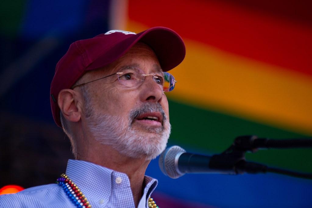 Gov. Tom Wolf spoke at Penn's Landing