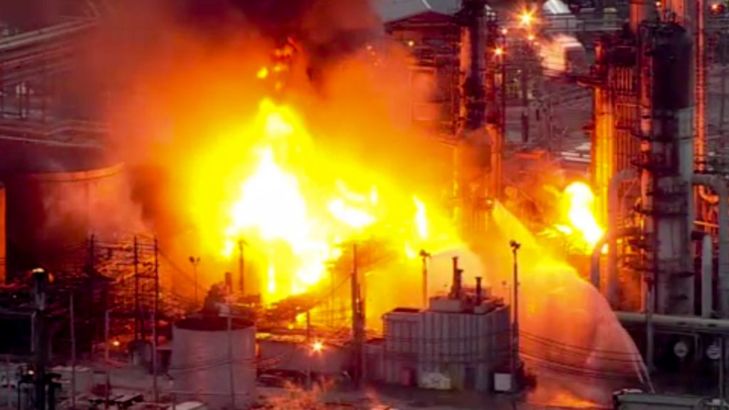 A massive explosion at the South Philly refinery was captured on video