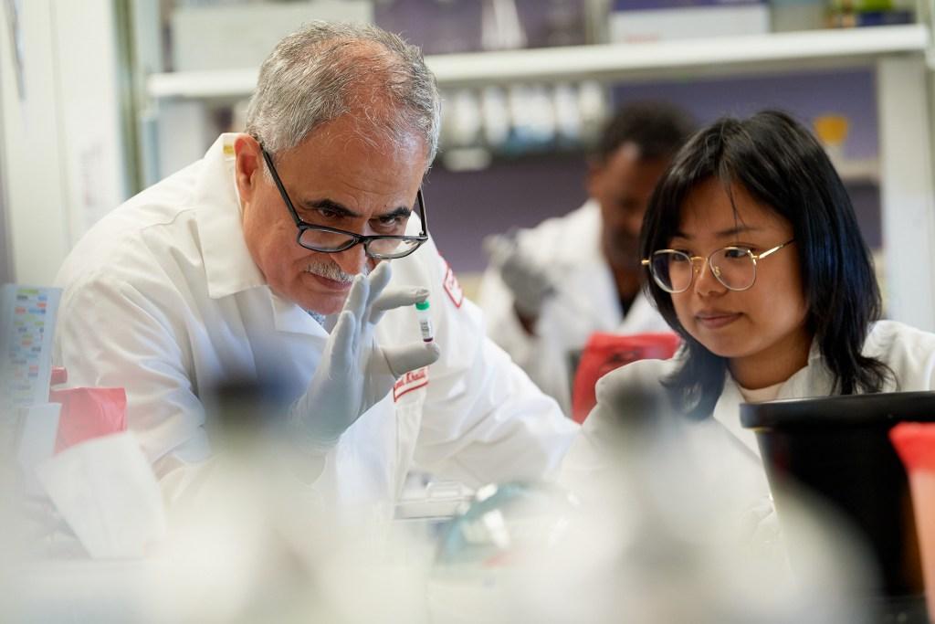 Dr. Kamel Khalili, left, announced last week he's taken a major step to cure HIV.