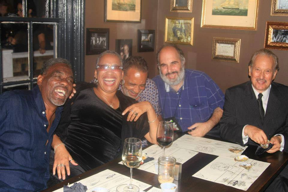 Photographers H. Michael Hammie, Bobbi I. Booker, Ron Allen, Robert Mendelsohn and writer Nathan Lerner taking a break after reporting duties in 2013.