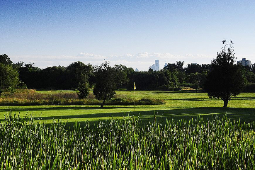 FDR Golf Course had a picturesque view of the Philly skyline