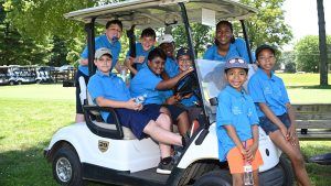 Kids enjoying Philly's First Tee program