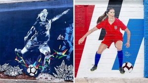 USWNT's Julie Ertz and Carli Lloyd are featured in new murals