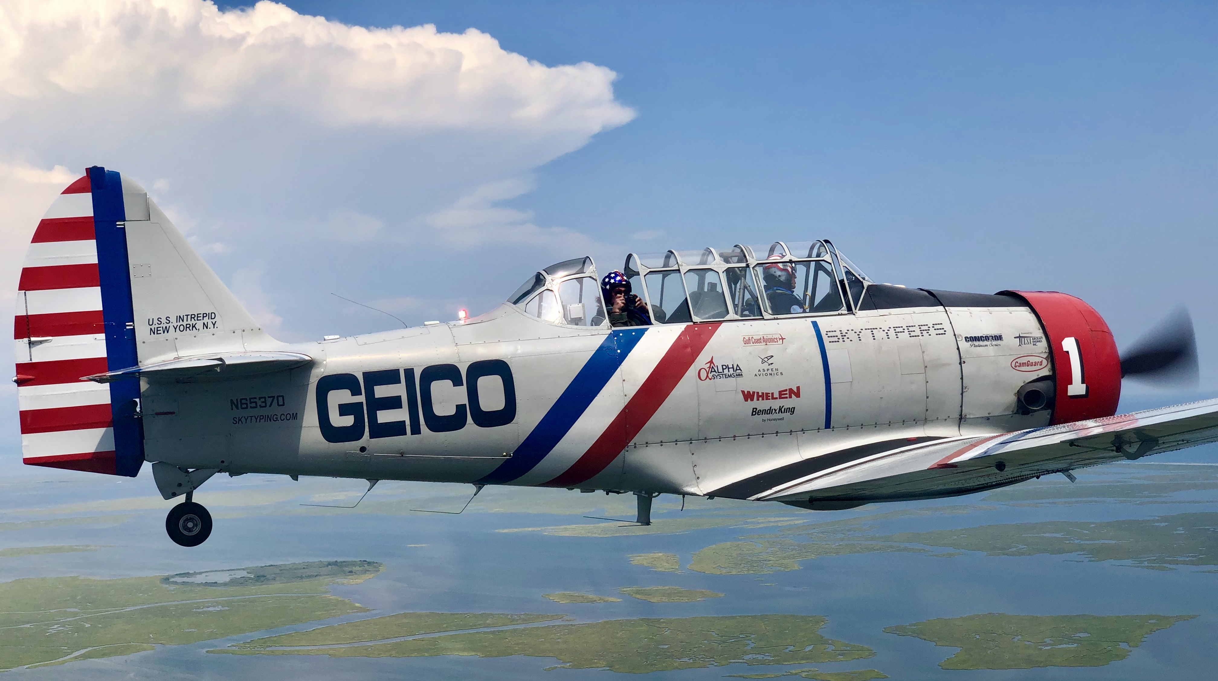 Why pilots beg to be on the Geico Skytypers vintage WWII