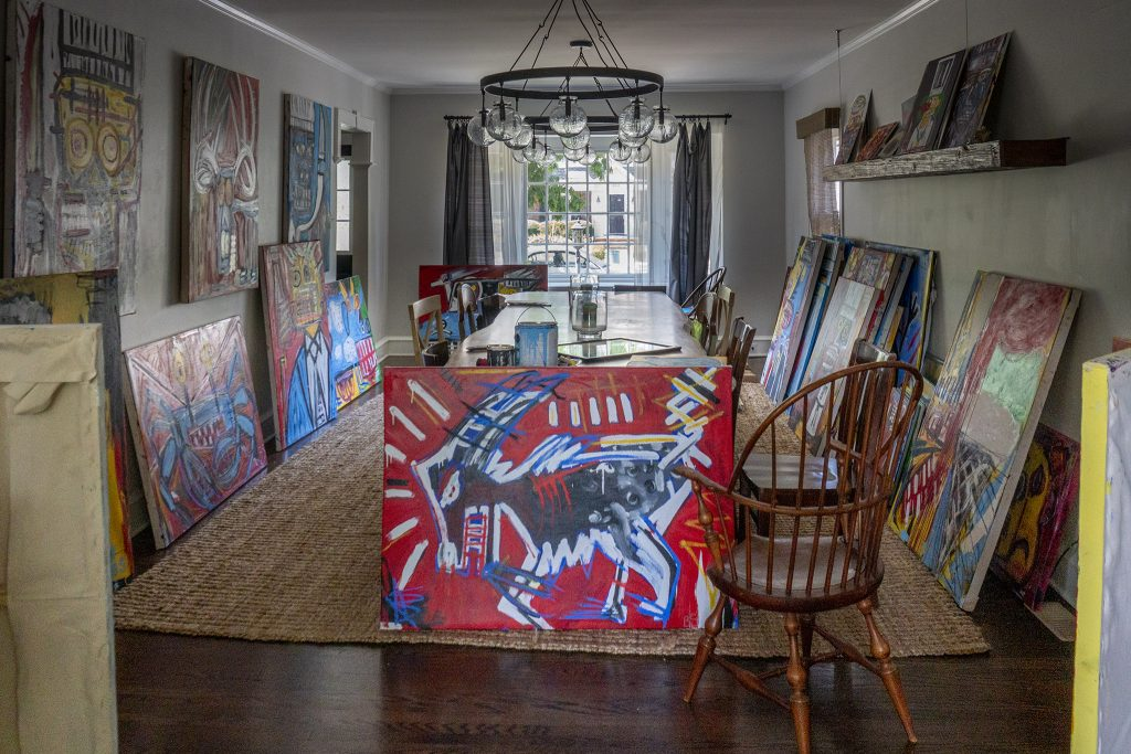 The Spence house in South Jersey has been overtaken by paintings