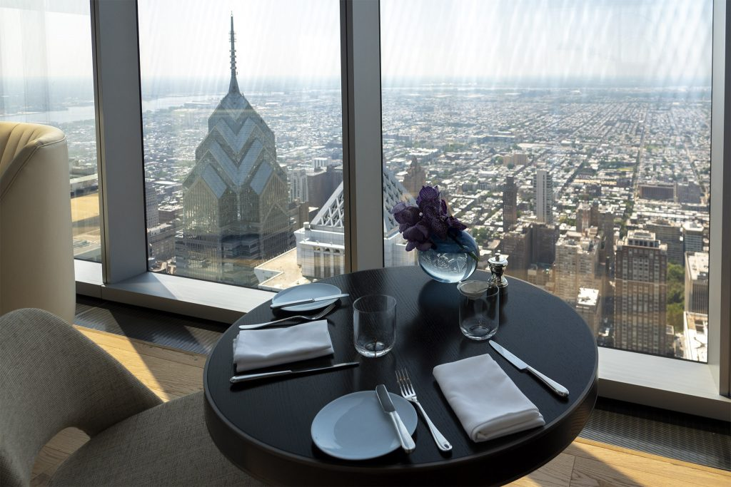 A table at Jean-Georges lets you look down on Liberty One and Two