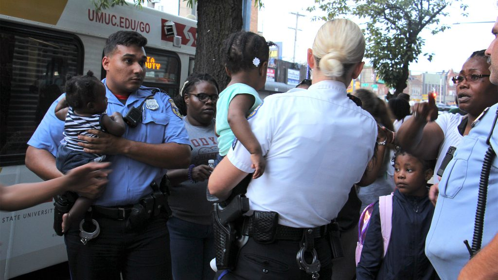 Police evacuate children from the Precious Babies Learning Academy daycare