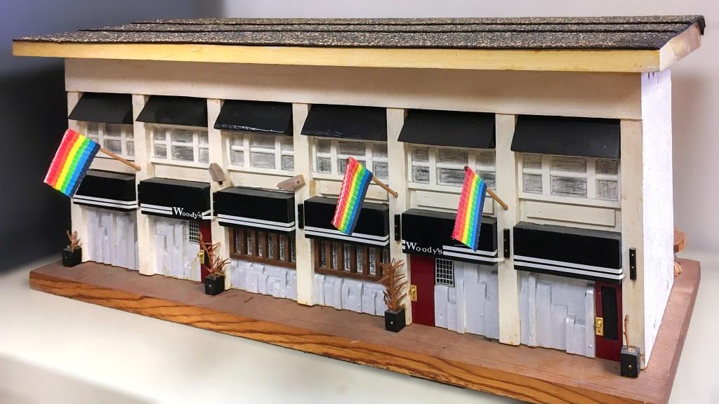 A diorama of Woody's, the beloved Gayborhood bar