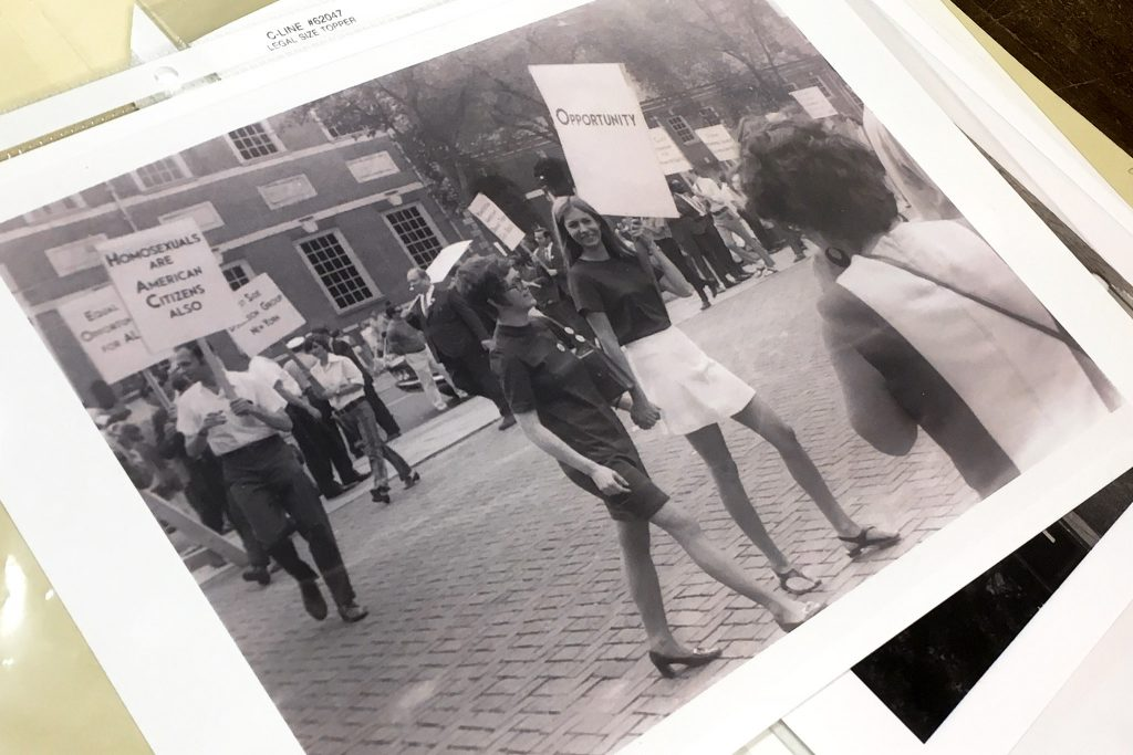 Photos in the Wilcox Archives show past protests and rallies for LGBTQ equality