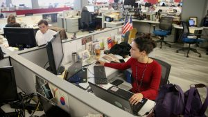 Jesenia De Moya Correa in the Inquirer newsroom