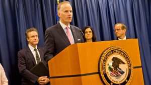 U.S. Attorney William McSwain announces the charges against Jeffrey Blackwell
