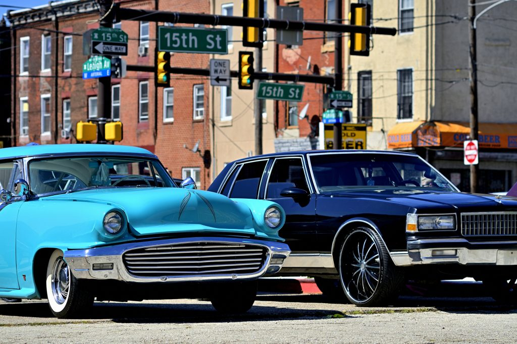 Sheldon Omar Abba, Wayne Lemon and Jessi Koch co-organized a North Philly car show meetup at a lot on 15th Street and Lehigh Avenue
