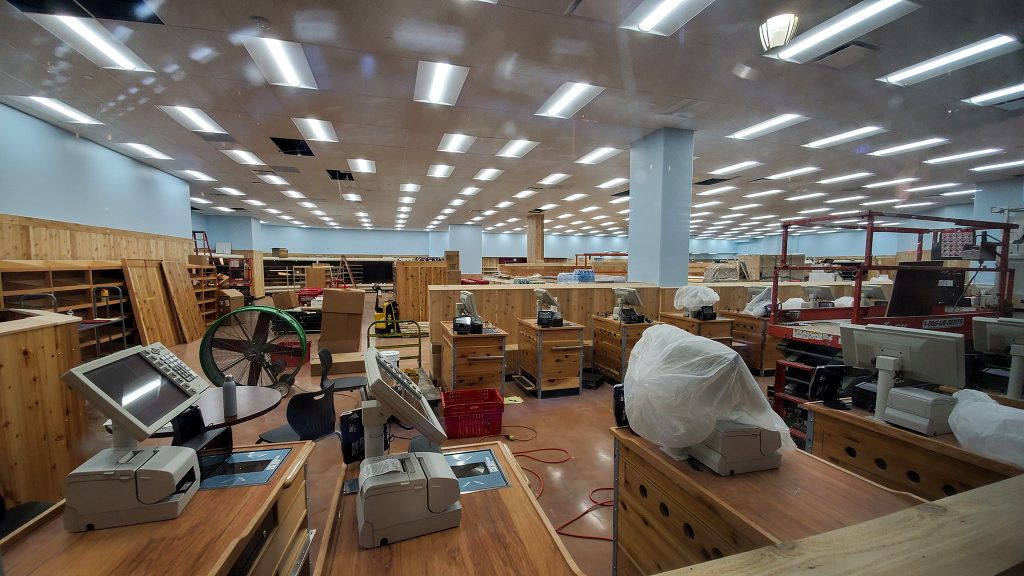 The forthcoming Trader Joe's is full of checkout counters