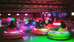Bumper car rink in at the Ice Zoo in Sydney, Australia