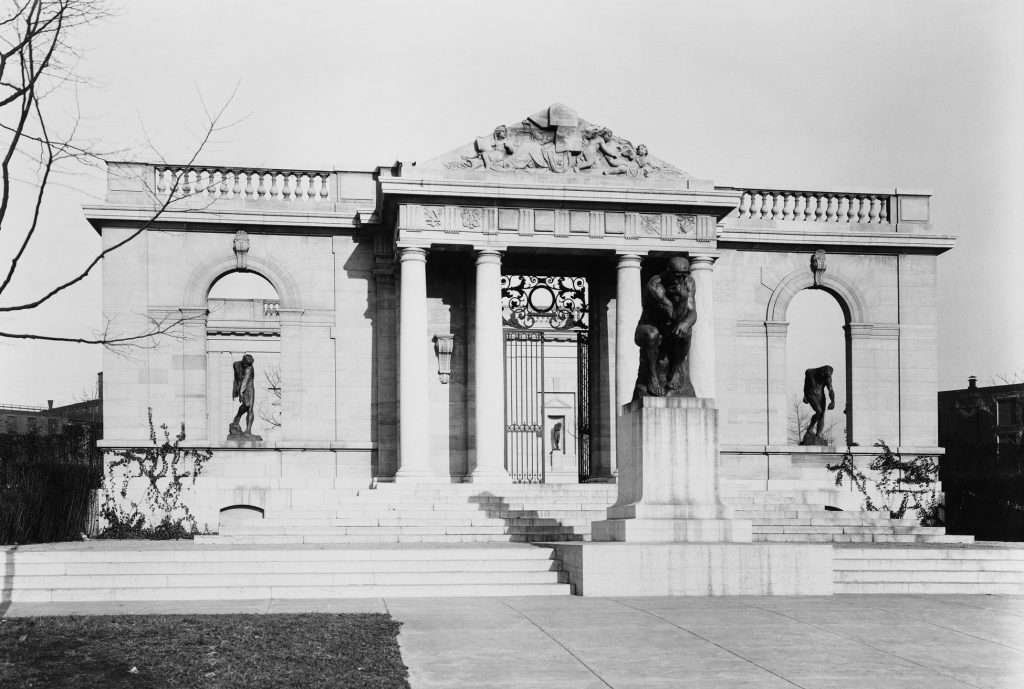 A view of the entrance gate in 1929, when the museum first opened