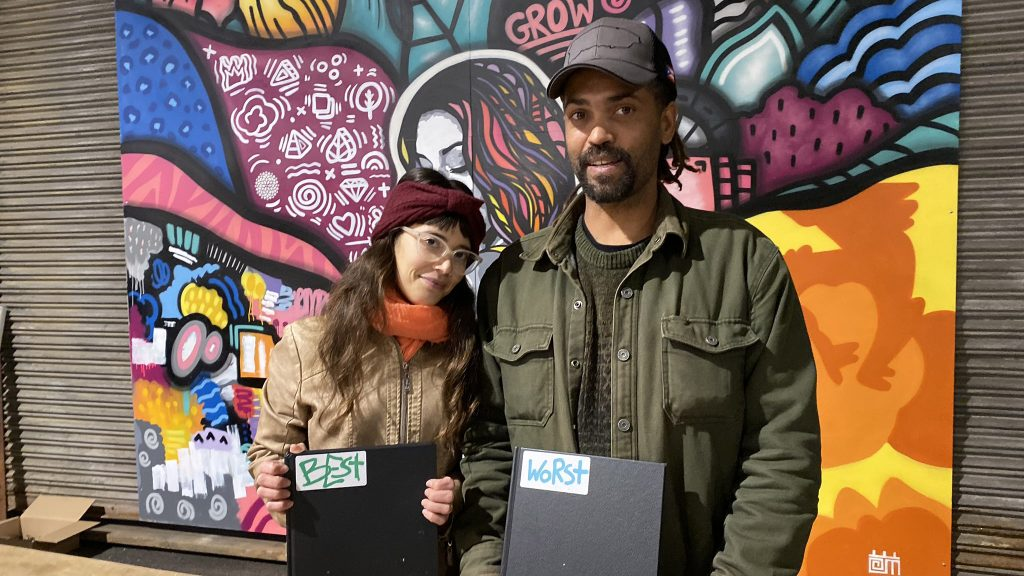 Linda Fernandez and Keir Johnston of Amber Art Collective