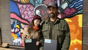 Linda Fernandez and Keir Johnston of Amber Art Collective