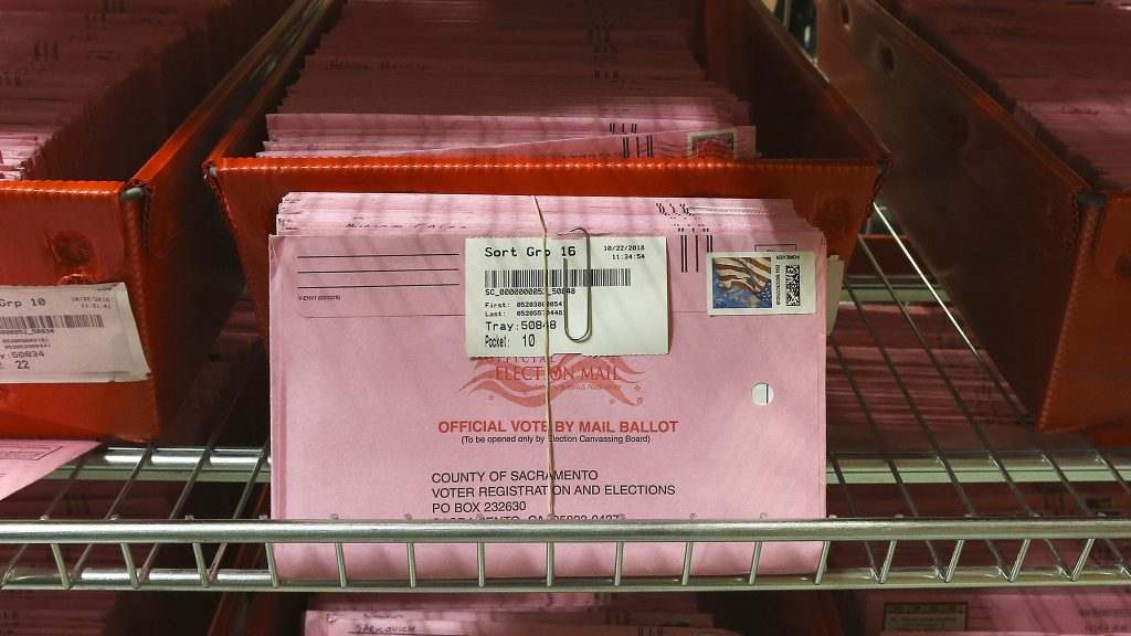 Mail-in ballots are already used in California and several other states