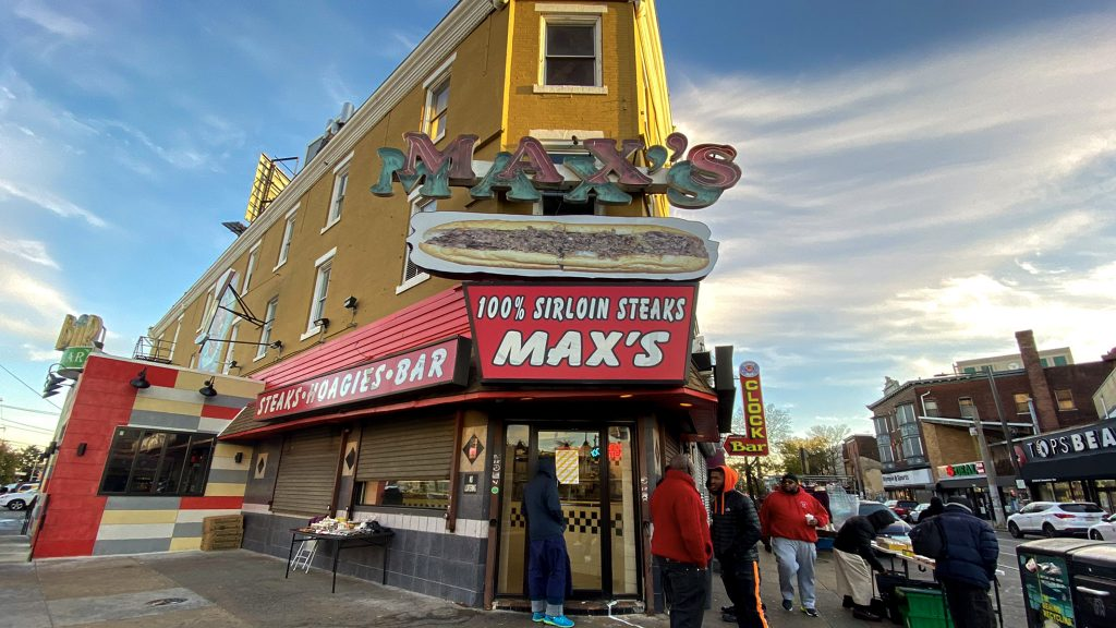 Max's Steaks is located where North Broad intersects with Germantown and Erie avenues