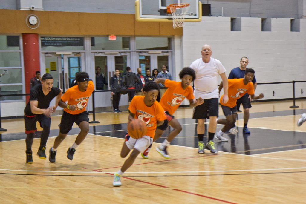 Teens faced off against Philly police at a student-organized basketball tournament