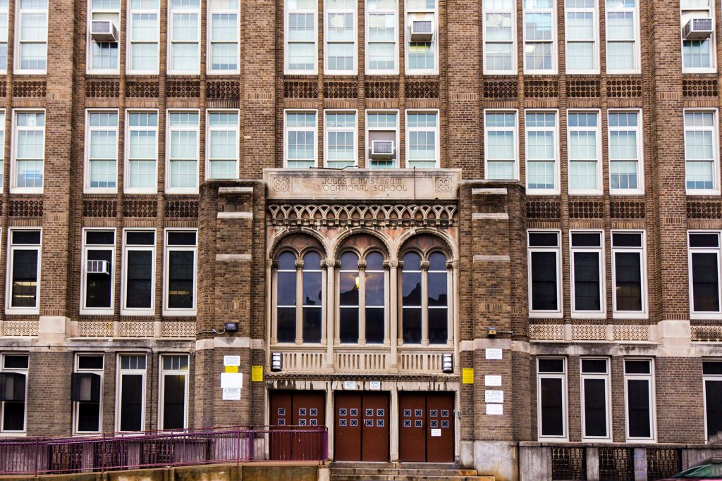 Jules E. Mastbaum high school on Frankford Ave. in Philadelphia