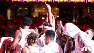 Temple men's basketball team on opening night 2019
